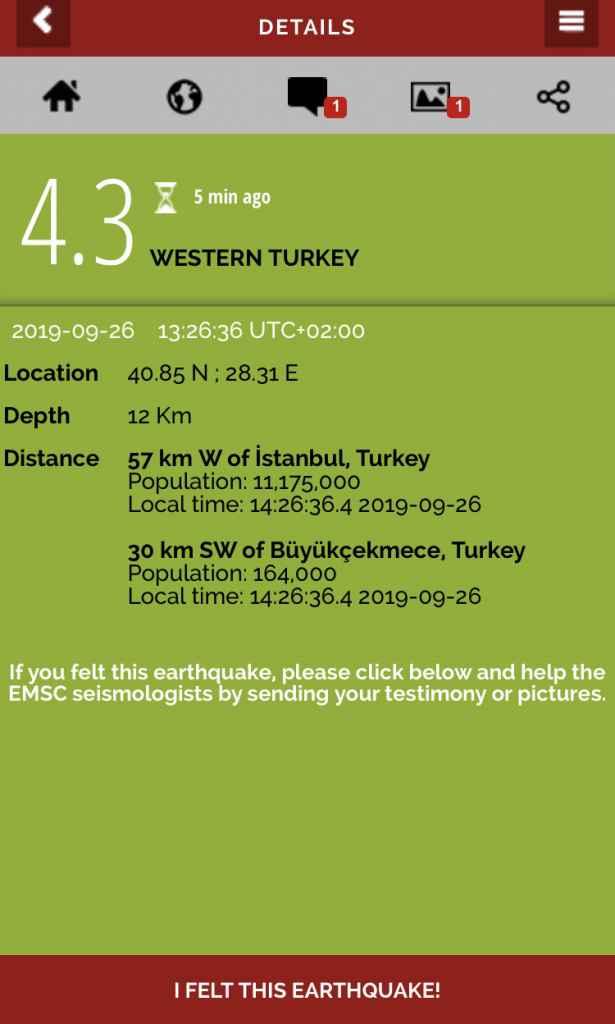 Cutremur în Vestul Turciei. 4.3 grade replică la cutremurul 5.8
