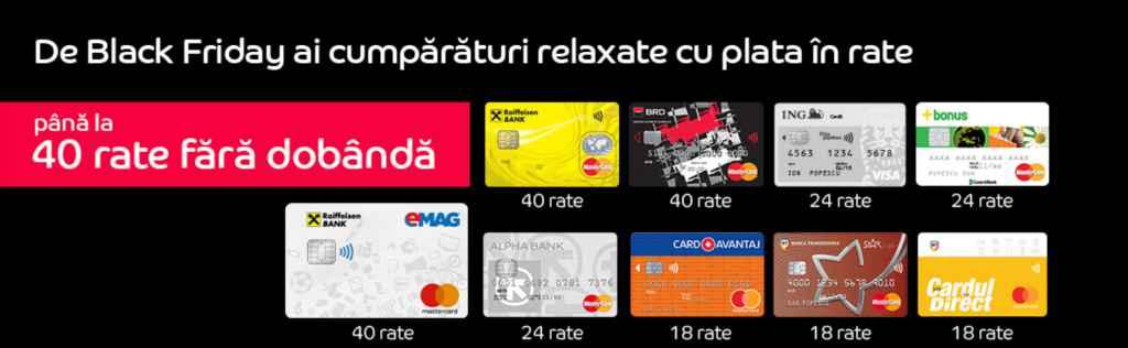 eMAG.ro Black Friday catalog oferte și plată în rate