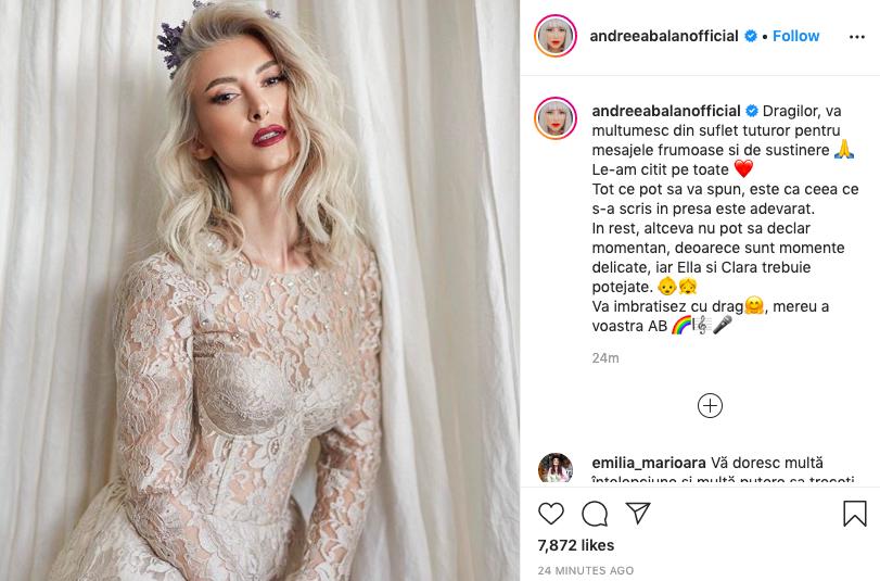 Andreea Balan. sursa foto: instagram