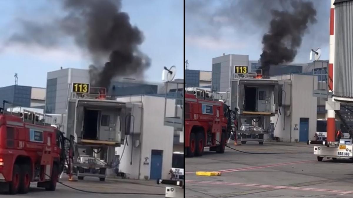 """Incendiu la terminalul """"Plecări"""" de pe aeroportul Otopeni"""