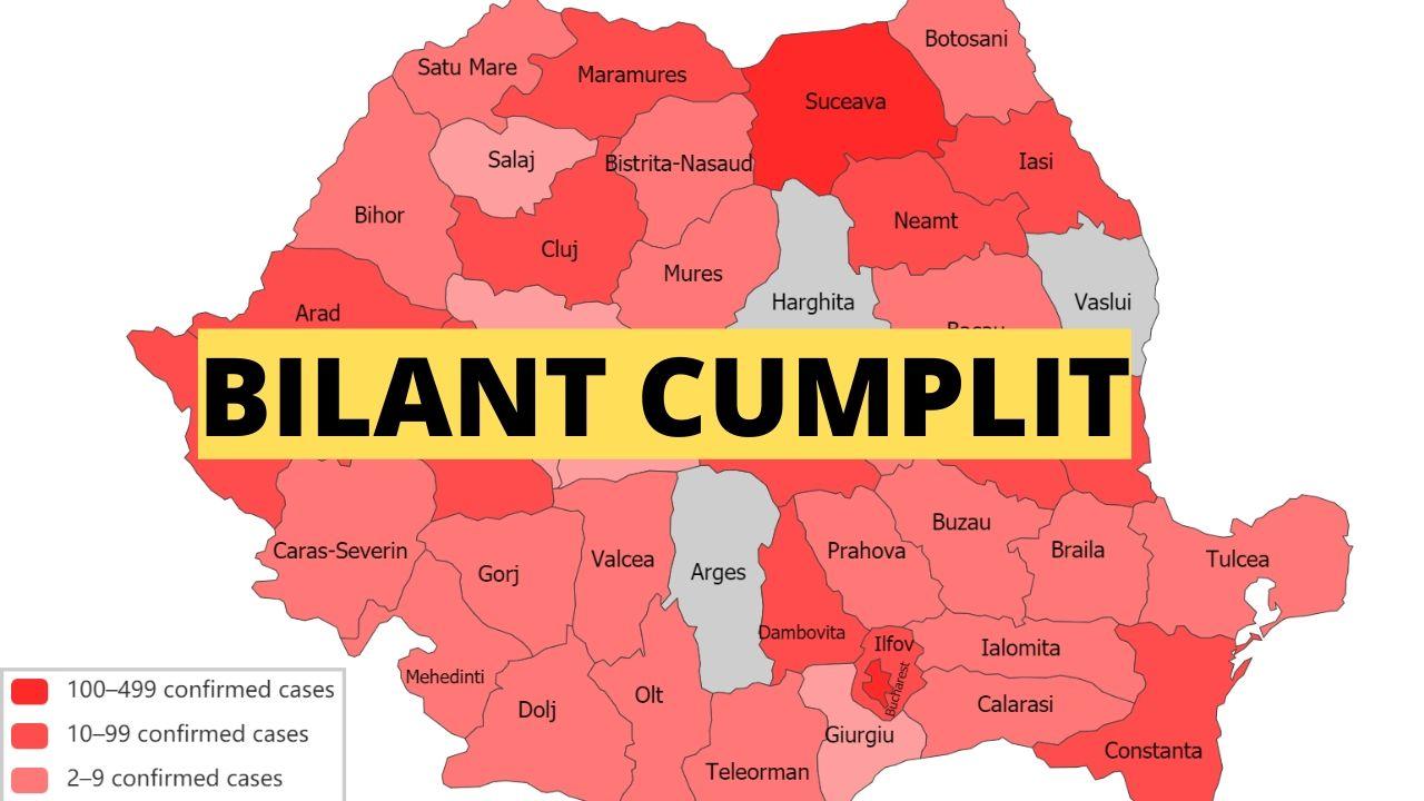 Bilant Romania Coronavirus 31 martie 2020