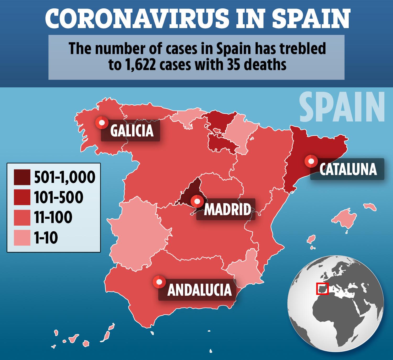 Spania a devenit ţara europeană cu cel mai mare număr de cazuri de coronavirus