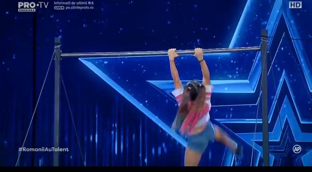 Acrobatii pe bara gimnaste