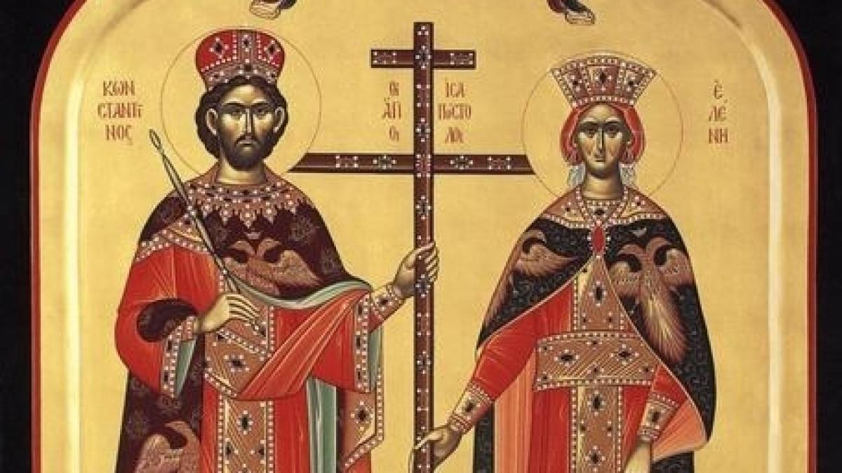 Calendar ortodox 21 mai 2020. Sfinţii Împăraţi Constantin şi Elena