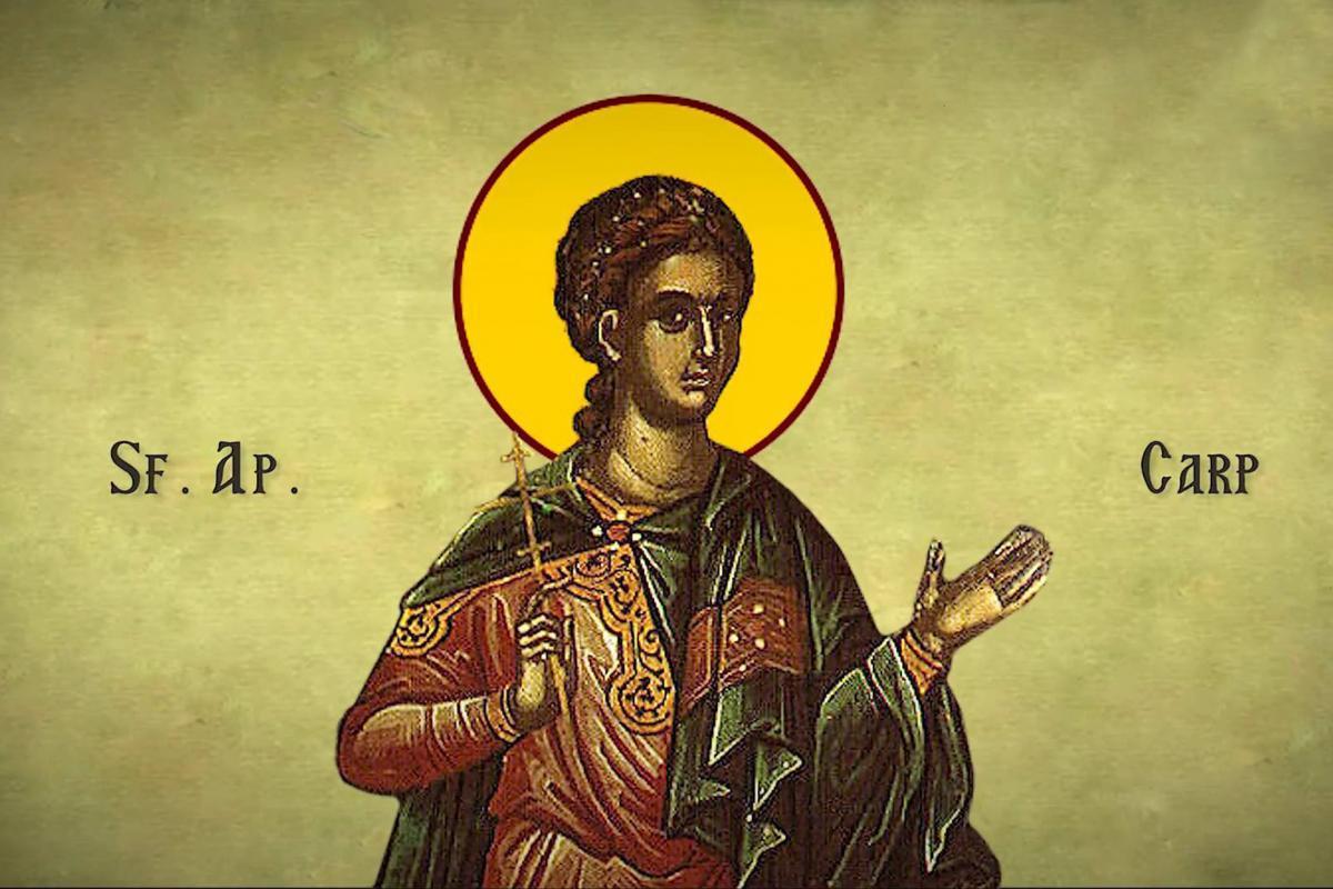 Calendar ortodox 26 mai 2020. Sfântul Apostol Carp, unul din cei 70 de apostoli
