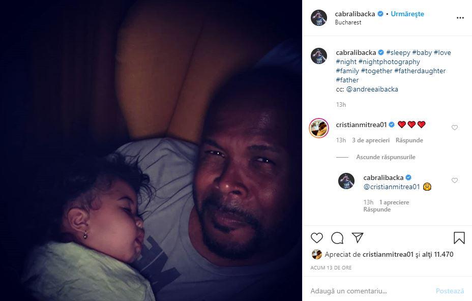 Primele imagini cu fiica lui Cabral Ibacka și a soției, Andreea. De ce a refuzat prezentatorul să-i arate fața celei mici