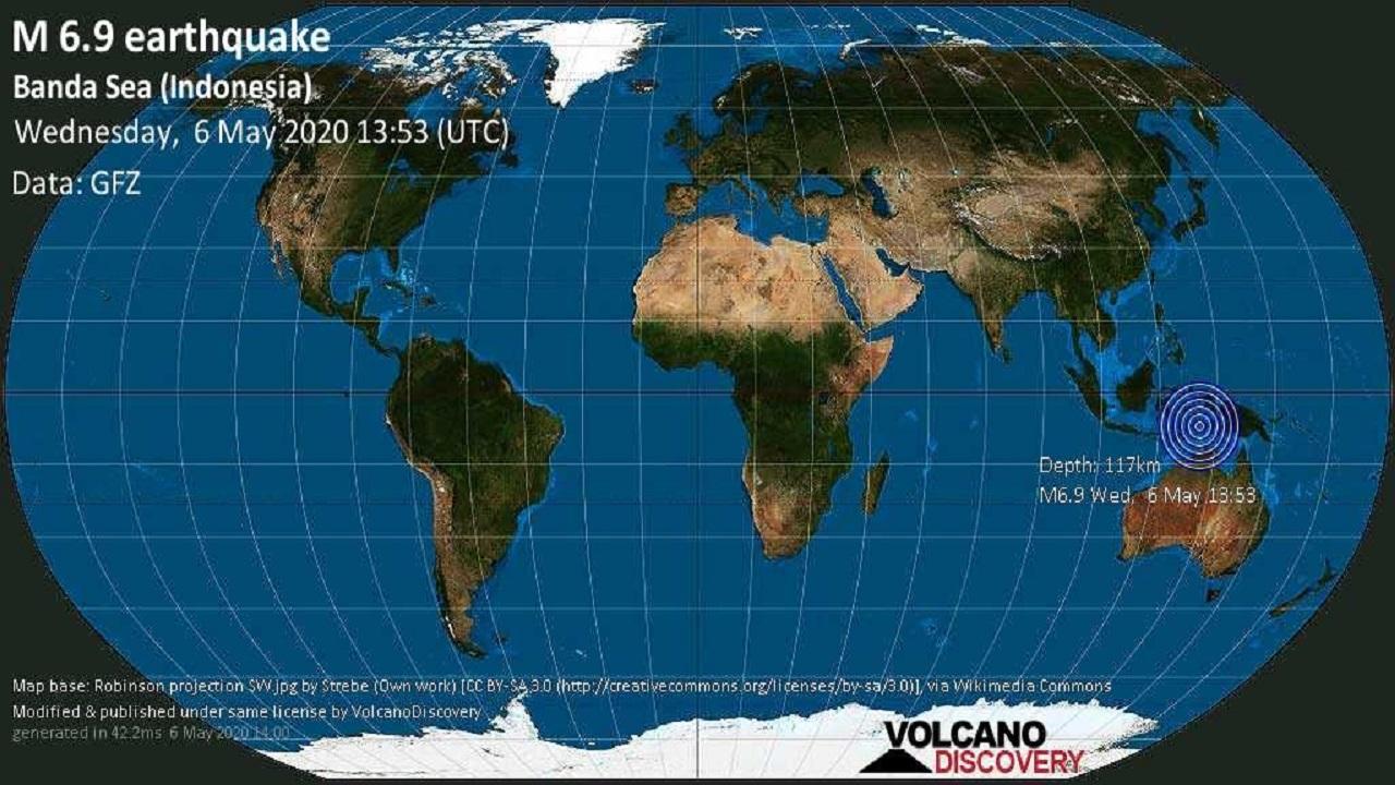 Cutremur de magnitudine ridicată în Marea Banda, Indonezia: 6.8 pe scara Richter