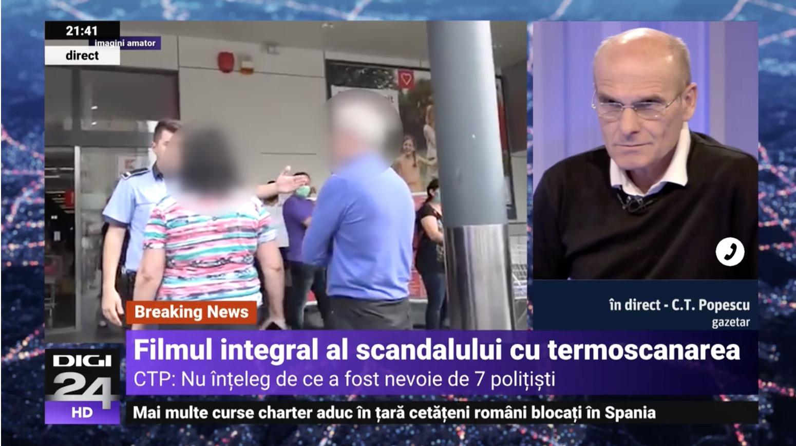 Scandal la Kaufland, doi clienți refuză termoscanarea și aceștia sunt încătușati