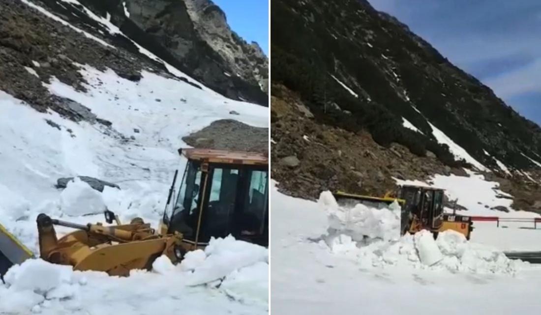 Zăpadă înaltă de 5 metri pe Transfăgărășan: 'Circulația este strict interzisă și extrem de periculoasă'