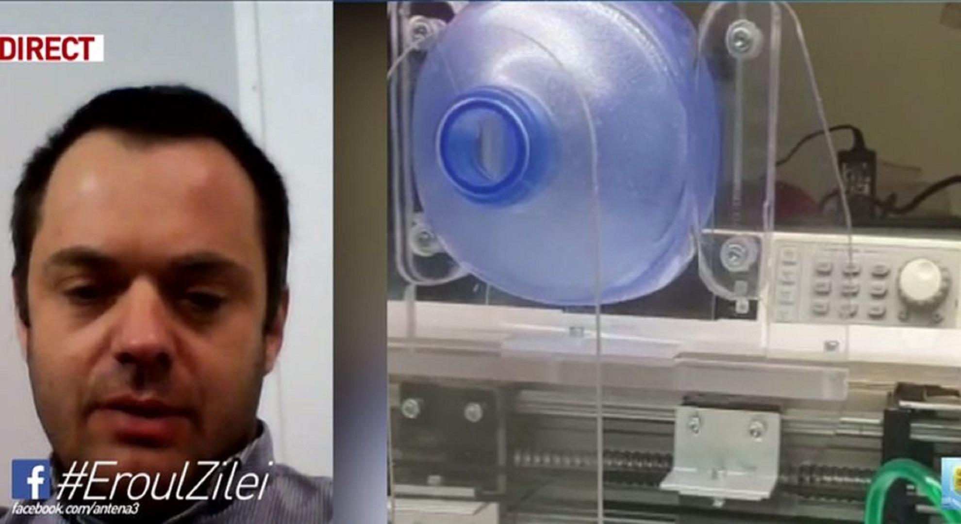 Un inginer a inventat un aparat de ventilare pentru bolnavii de coronavirus