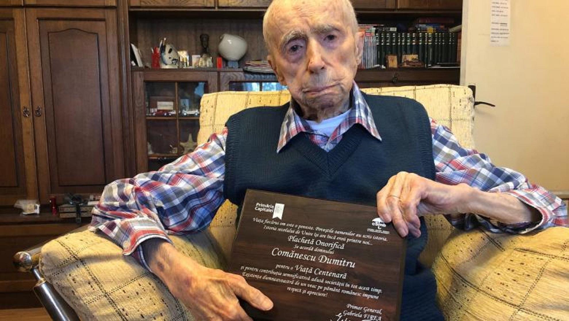 """Cel mai în vârstă bărbat din lume este român: """"Sper să mă depășiți!"""""""