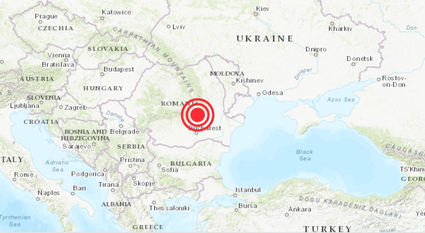 Un cutremur de 3.9 grade s-a produs în România în 17 mai