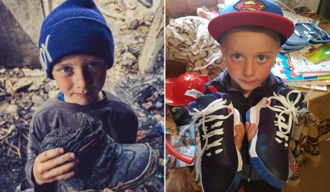 Gabriel, copilul din Botoșani care a rămas fără casă are din nou motive să zâmbească
