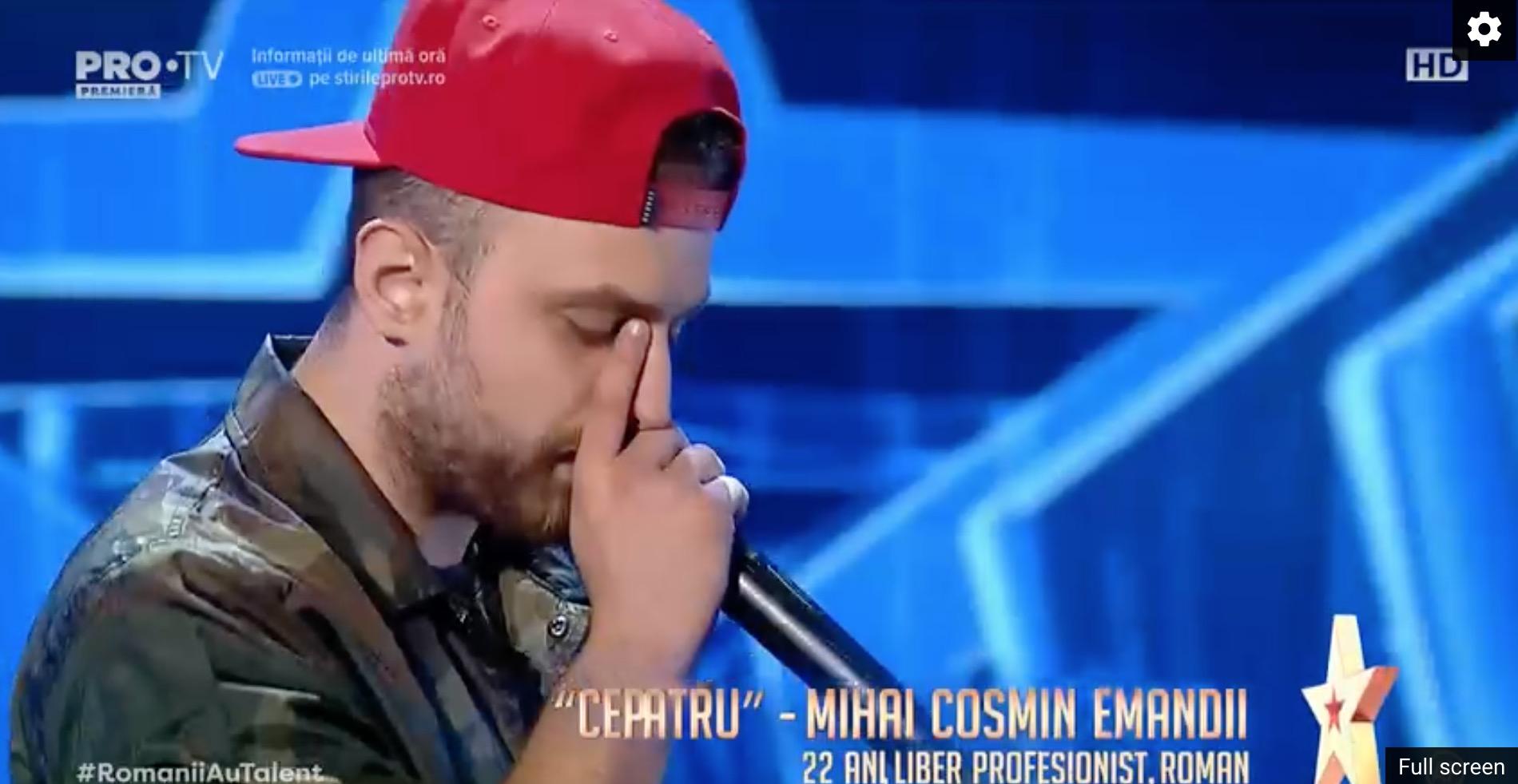 Mihai Costin Emandi, beat prin voce