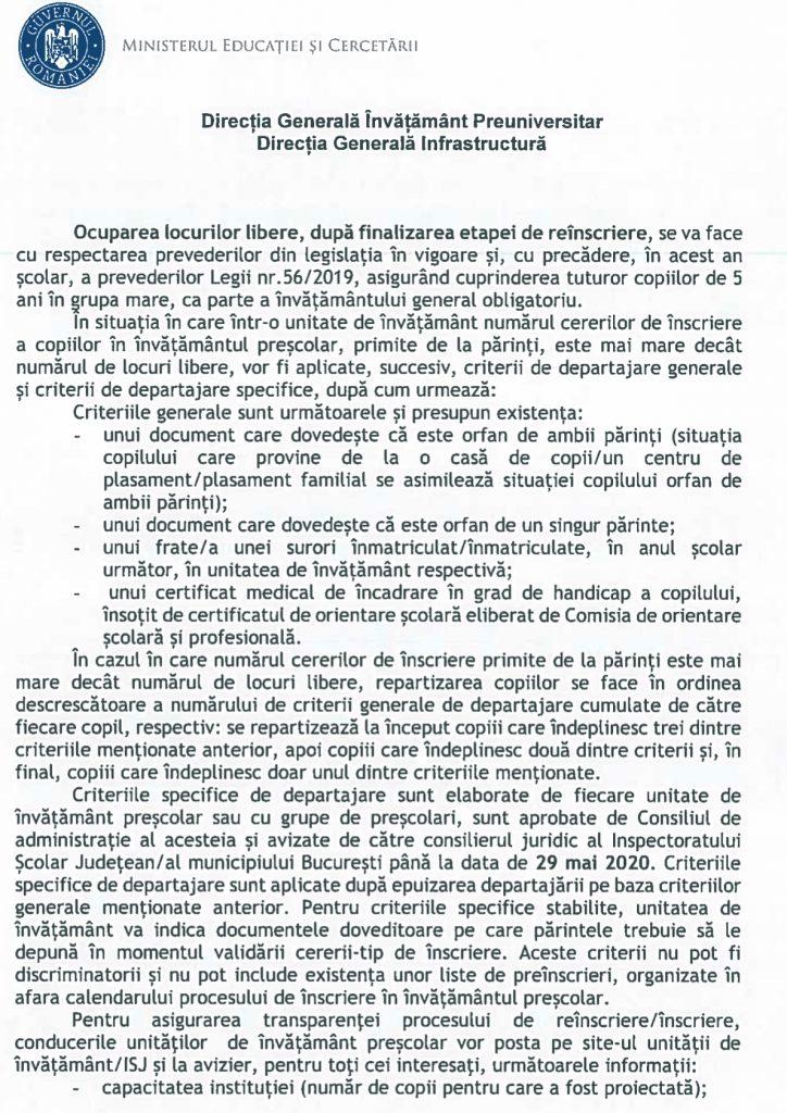 Înscrierile la grădiniță 2020, reguli noi, ce trebuie să conțină dosarul și grupa mare obligatorie