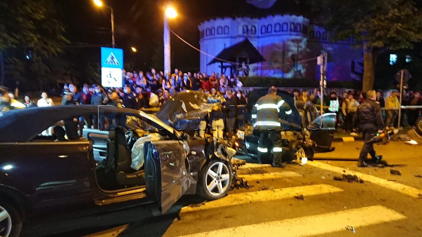 Un accident violent s-a produs în Botoșani, șoferul avea permis italian, 4 victime. Accidentul transmis LIVE