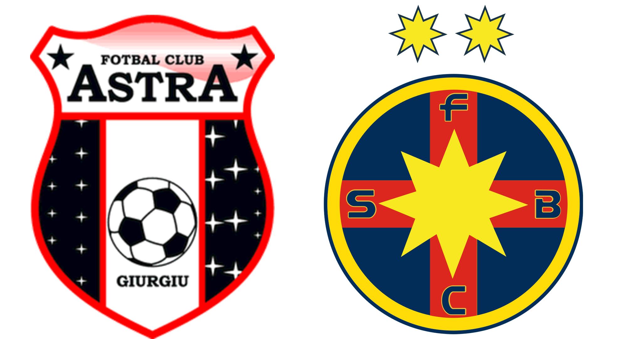Astra - FCSB Scor 0-0 live video & live score. Steaua nu mai visează la trofeu
