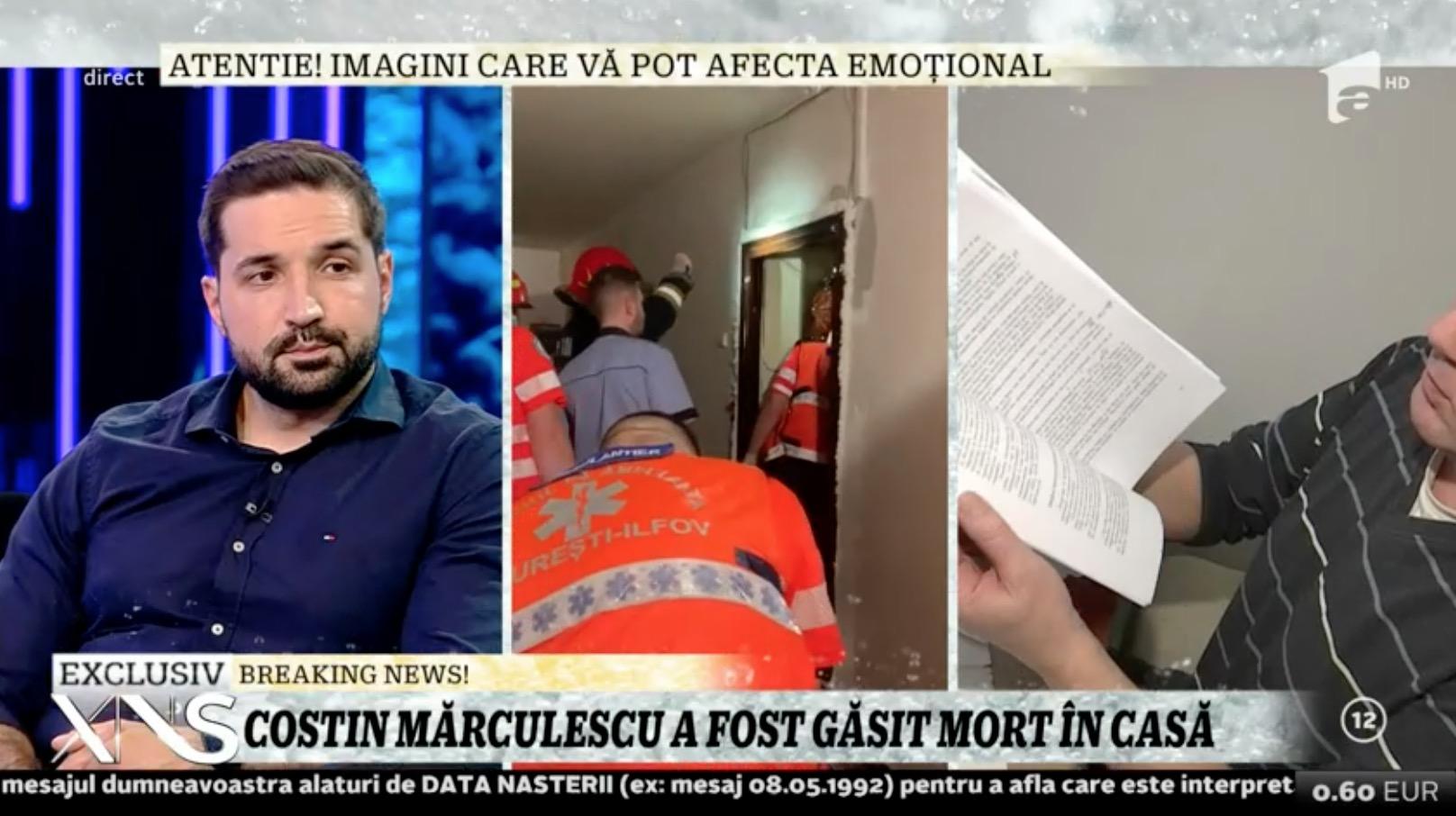 Costin Marculescu și-a luat pistol în 2008, după ce a fost atacat pe stradă