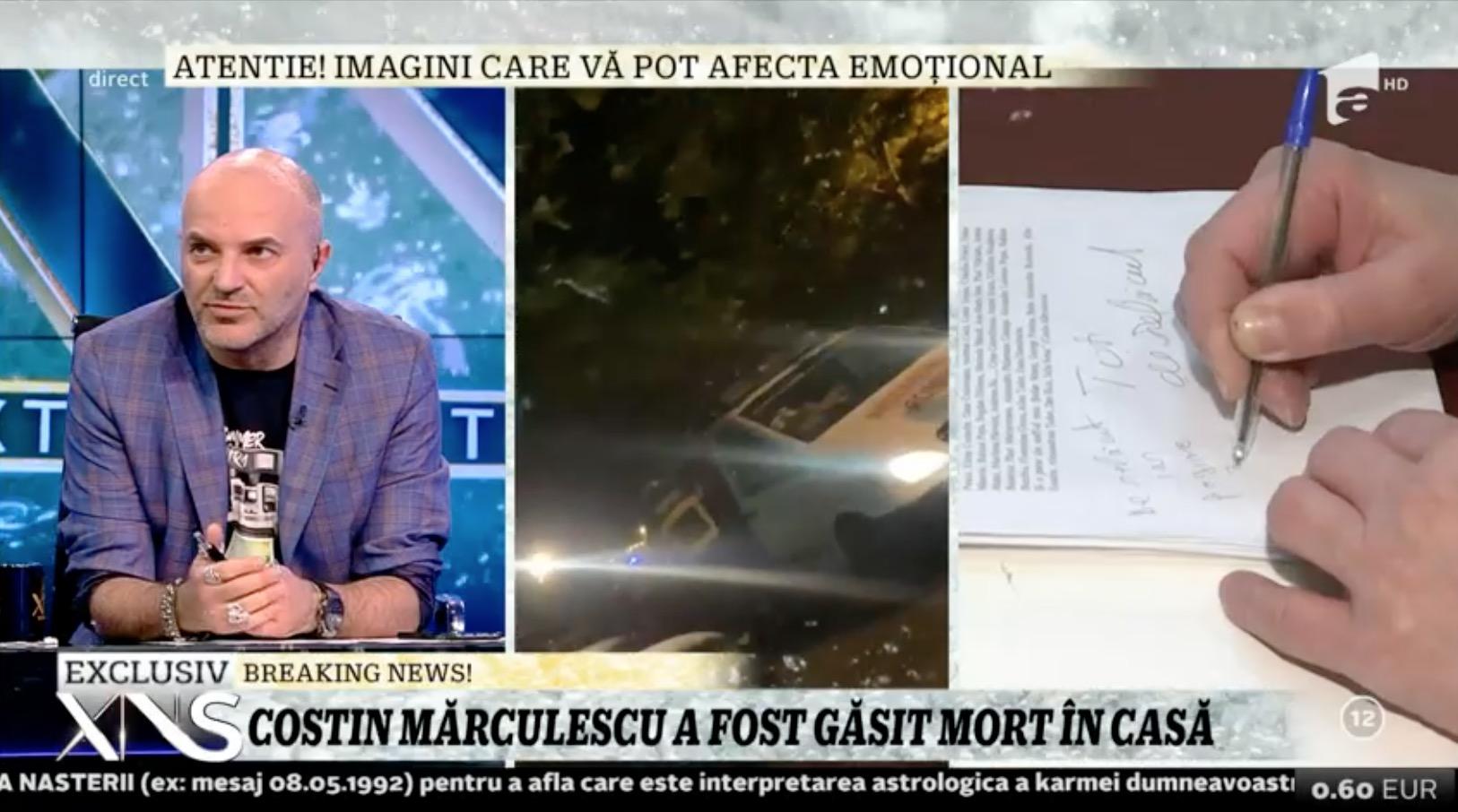 Costin Mărculescu a murit! Acesta a fost găsit în cadă în stare de putrefacție