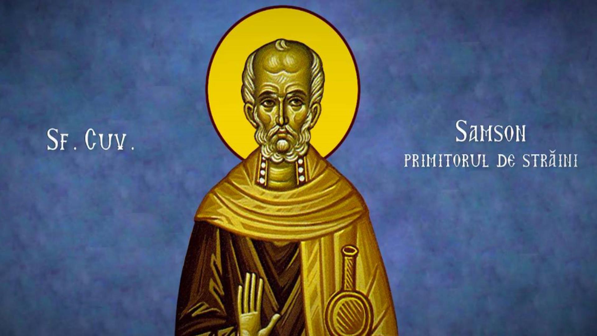 Calendar ortodox 27 iunie. Sfântul Cuvios Samson, primitorul de străini