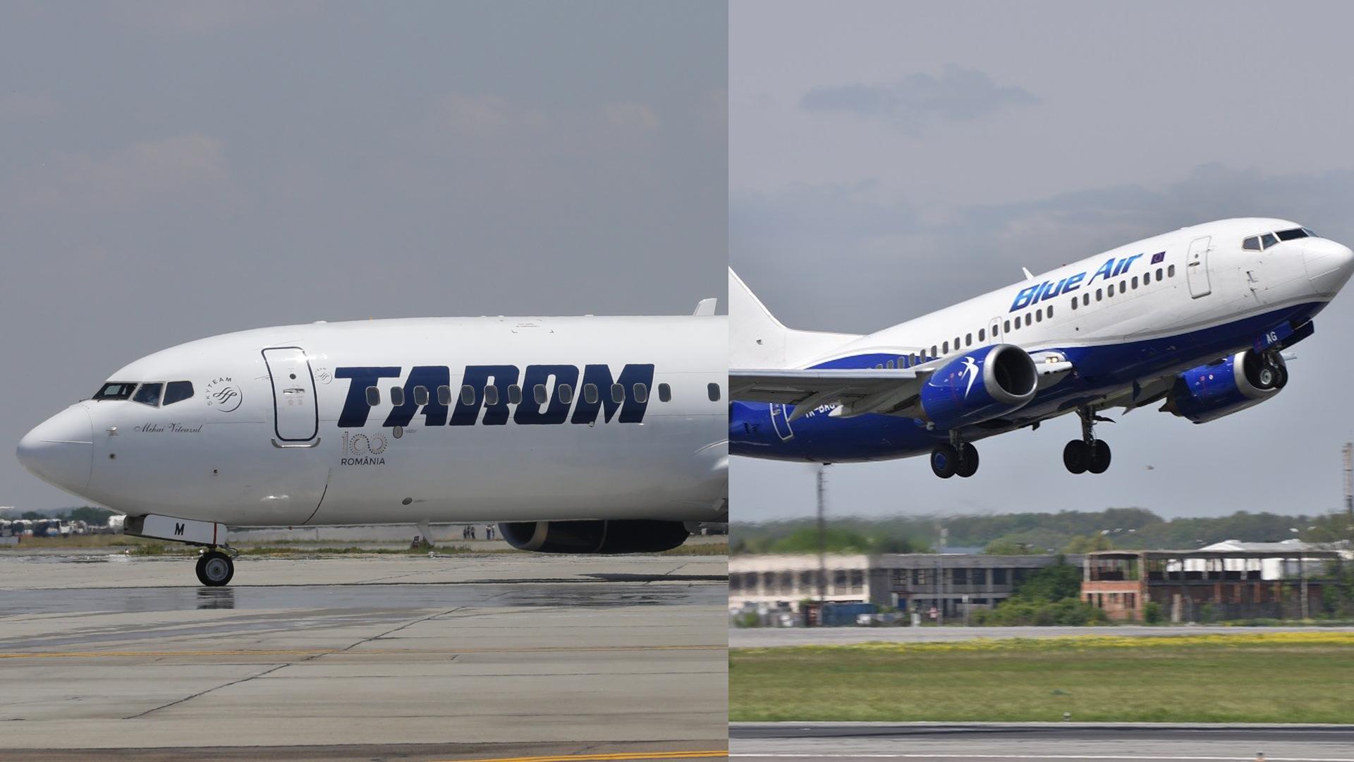 TAROM și Blueair ajutor de la stat de 130 de milioane de euro