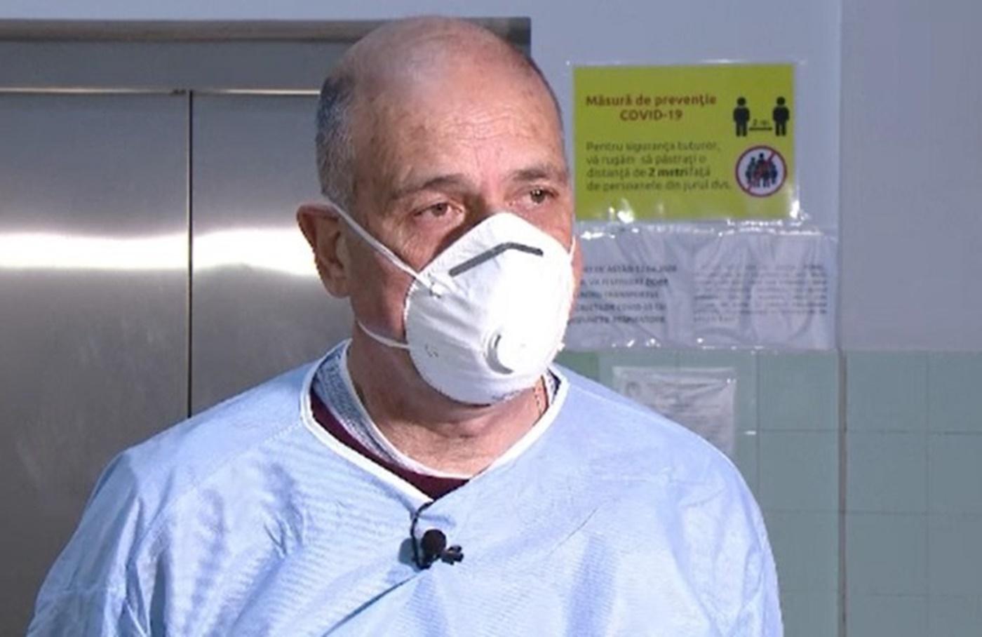 """Medicul Virgil Musta: """"Doborâm record după record. Lupta cu COVID-19 nu se câștigă în spital"""""""