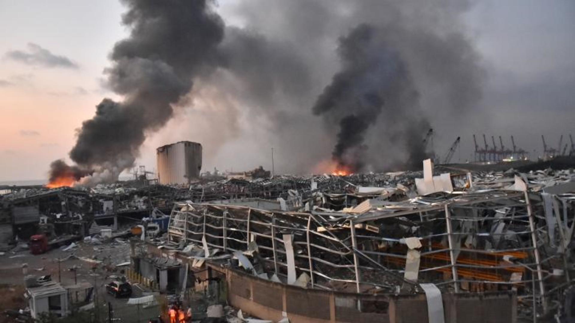 Primele imagini după explozie. Cum arată acum capitala libaneză