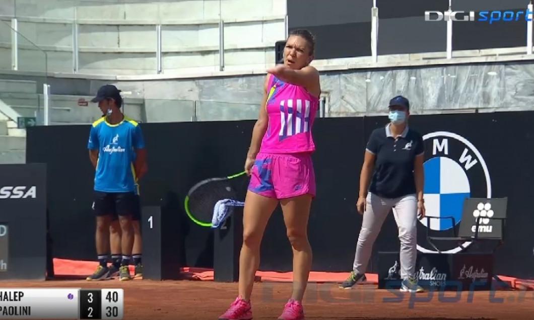 Simona Halep s-a calificat in optimi. Victorie in 2 seturi la Roma