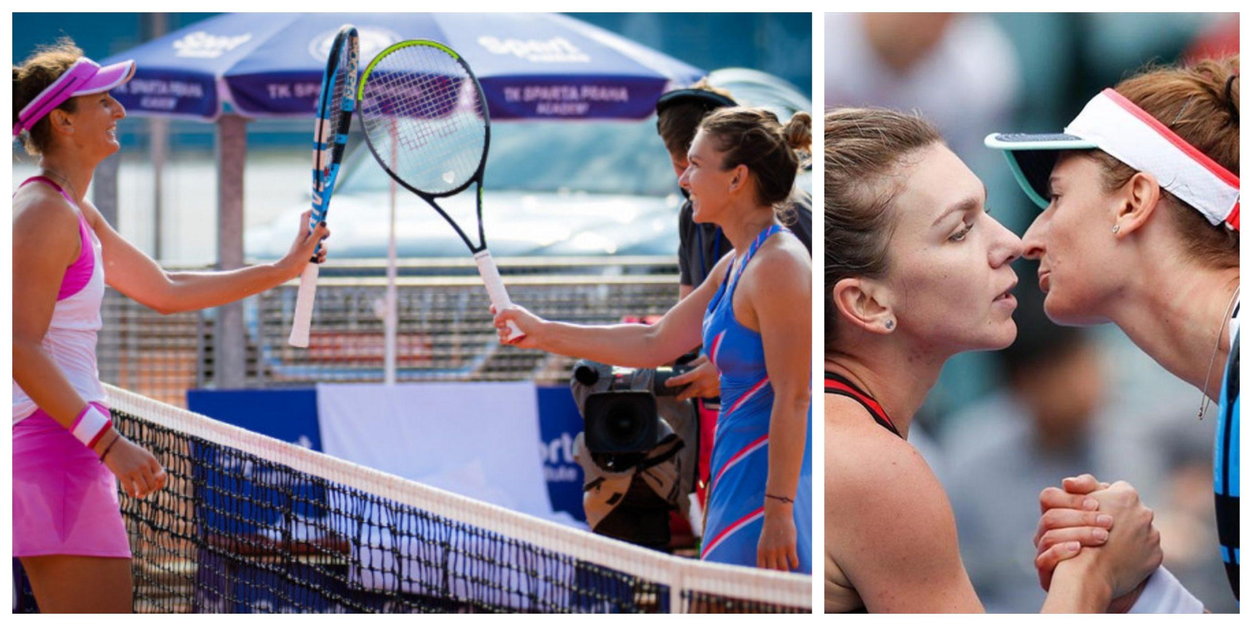 Simona Halep și Irina Begu se pregătesc de meciul de la Roland Garros