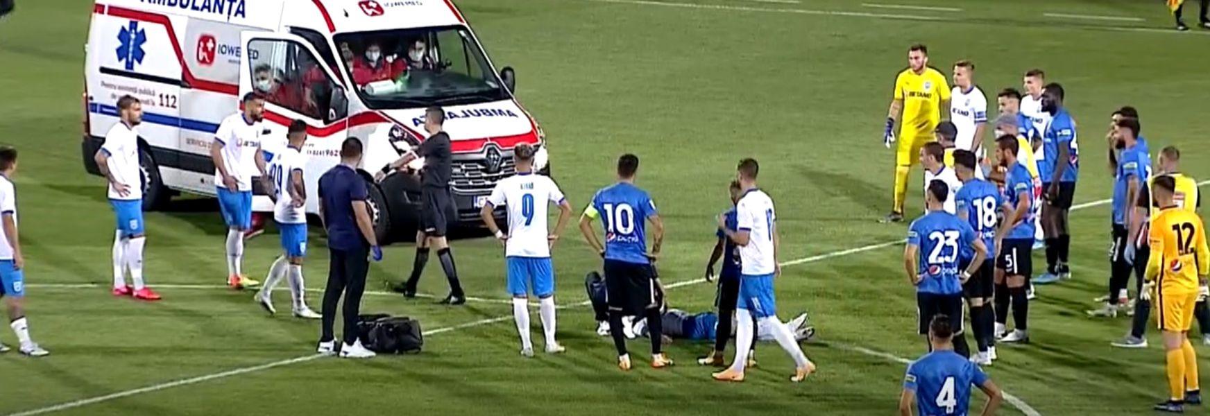 Alexandru Cicâldău lovit grav pe teren de un jucător de la Viitorul
