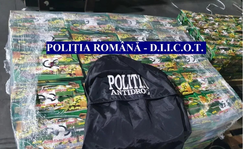 Cea mai mare captură de droguri din istoria Poliției Române, în Portul Constanța