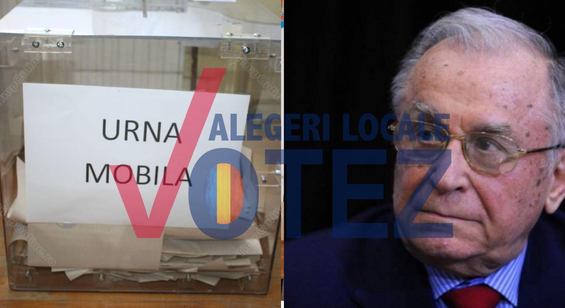 Alegeri locale 2020. Ion Iliescu a solicitat urna mobilă pentru a putea vota