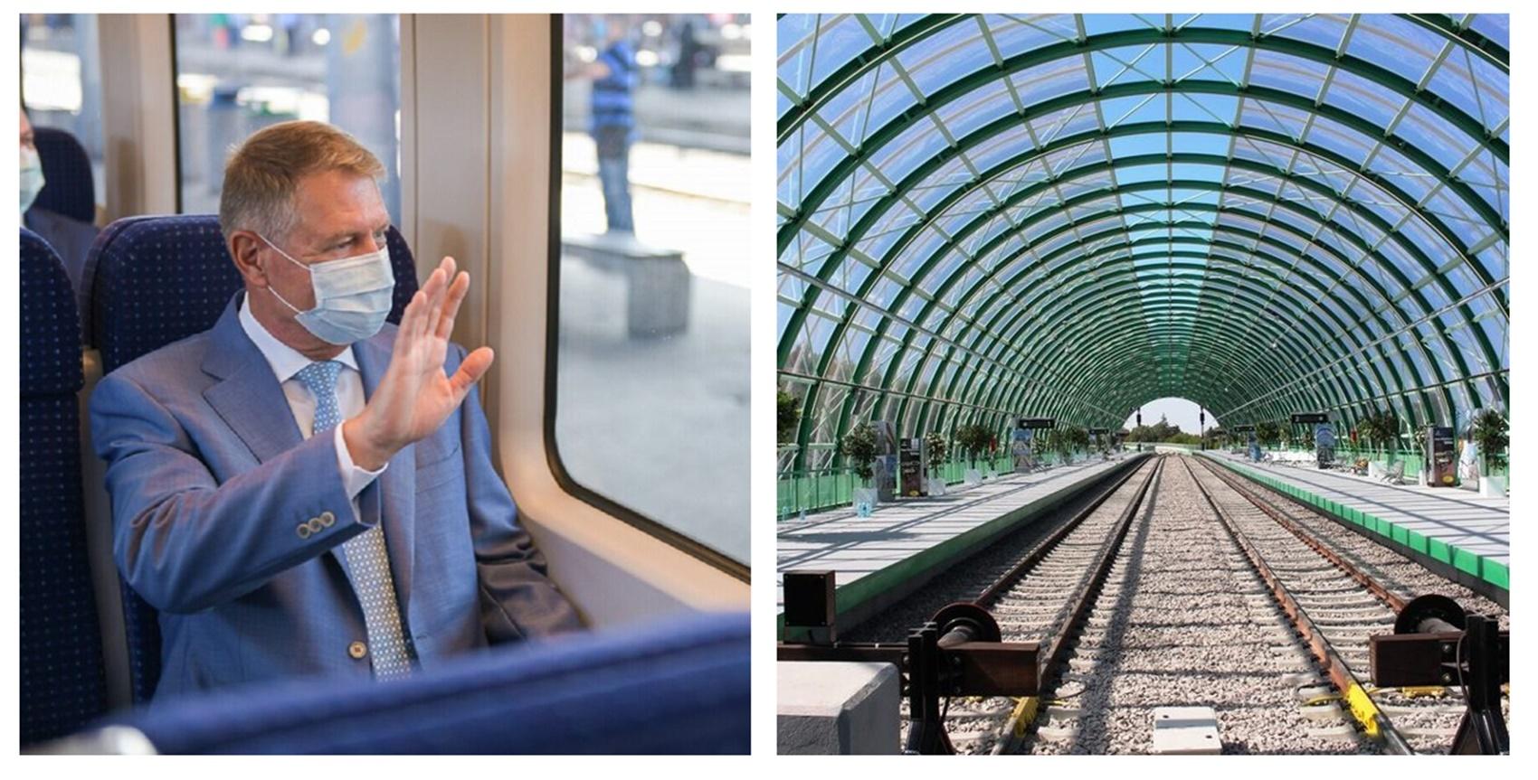 Când se deschide pentru public linia ferată Gara de Nord - Otopeni. Klaus Iohannis a fost în vizită