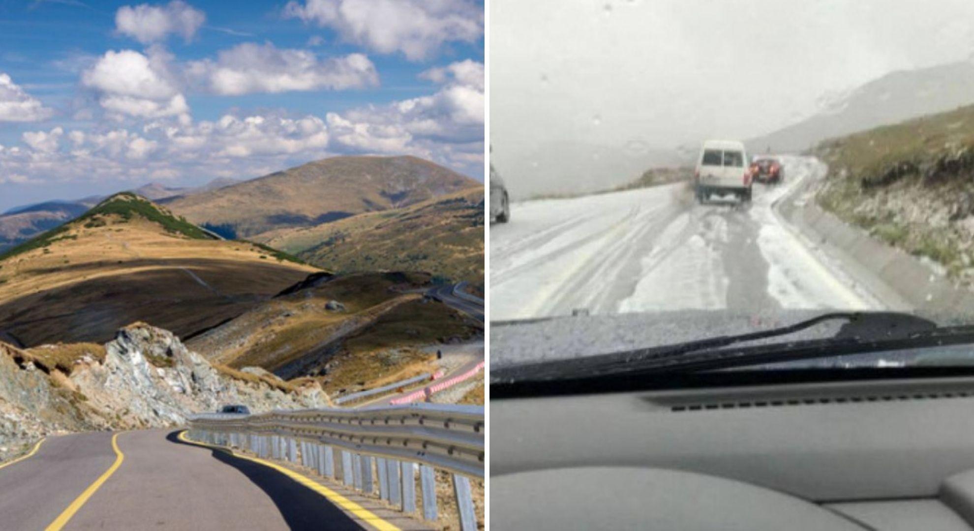 Prima ninsoare din acest sezon. 1 grad Celsius și strat consistent de zăpadă