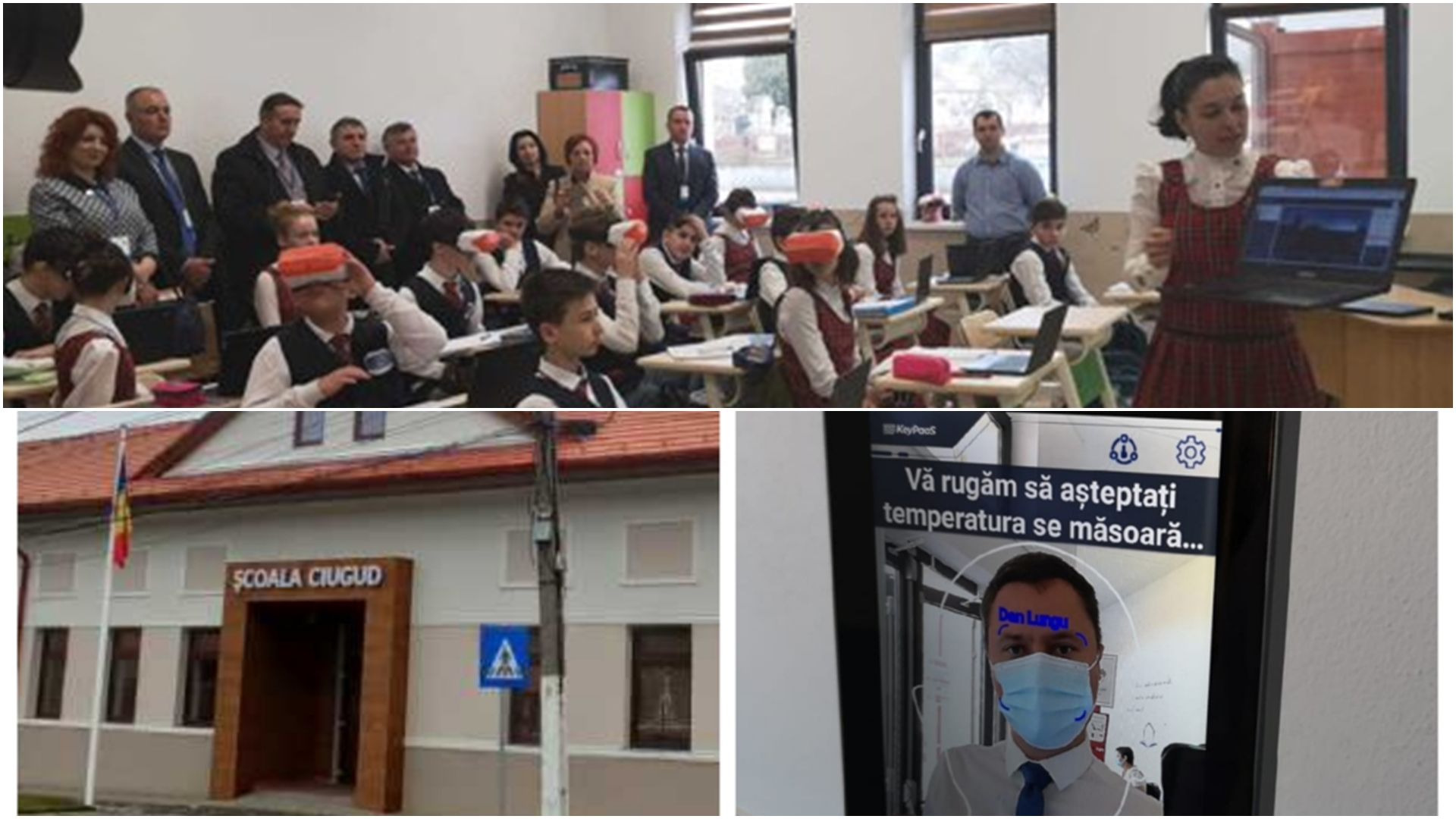 Prima școală smart din România. Este dotat cu sistem de recunoaștere facială și detectarea măștii