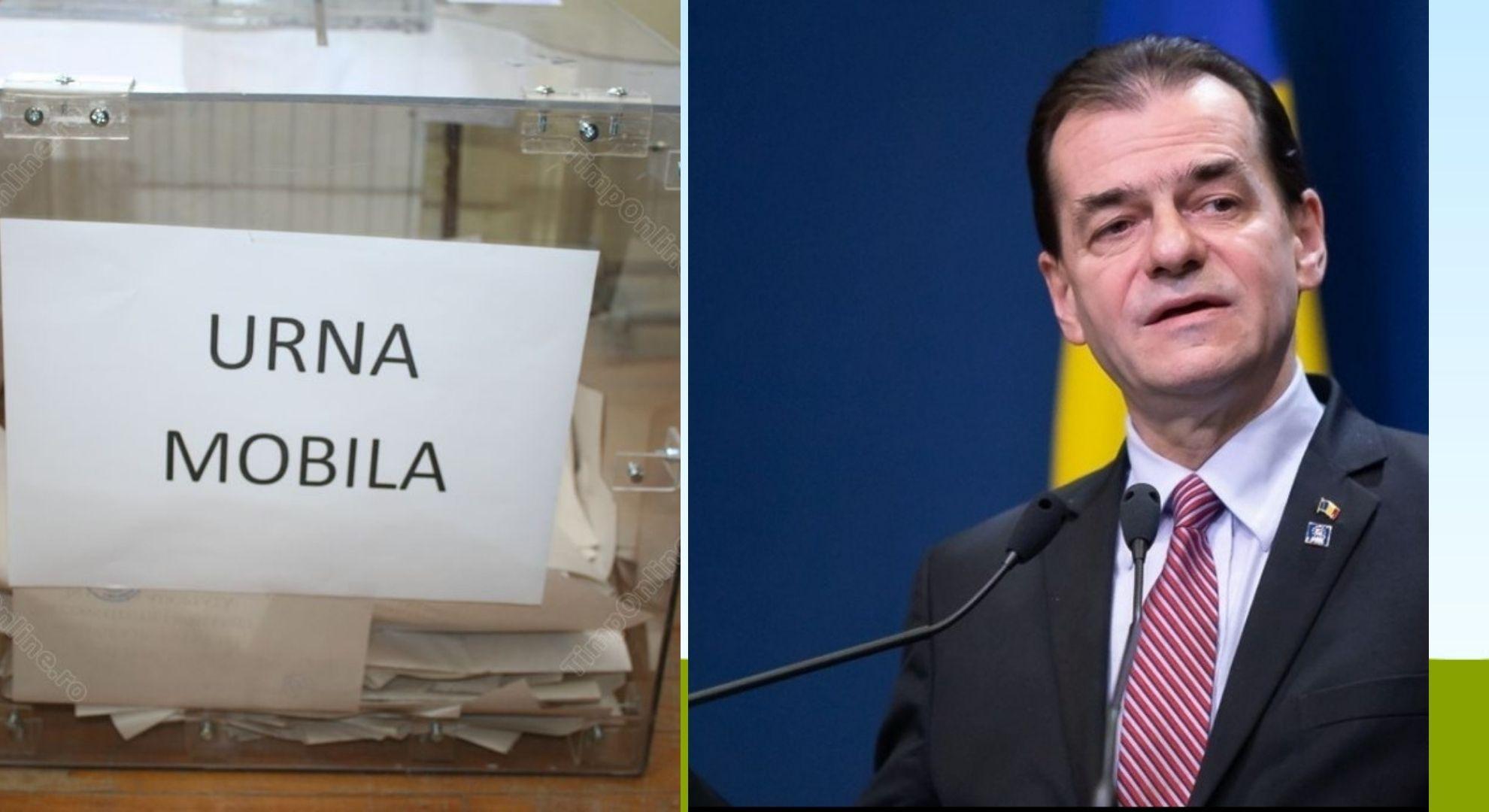 Se apropie alegerile locale. Ludovic Orban a anunțat cine poate să solicite urna mobilă