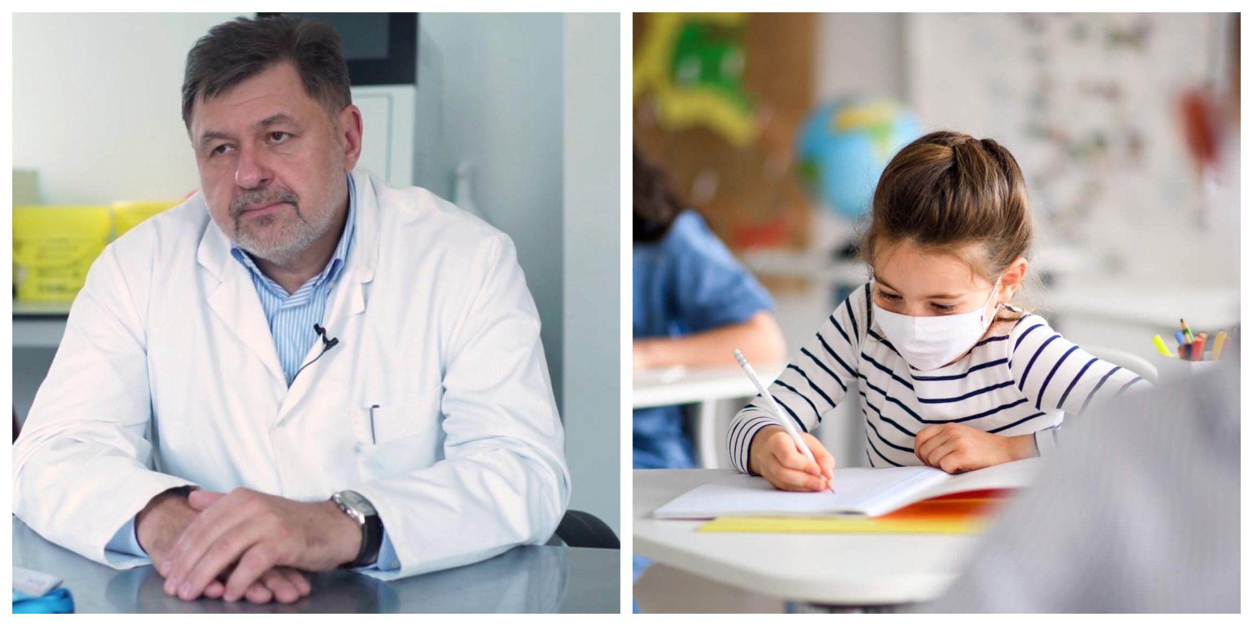 Alexandru Rafila susține școala în regim fizic, chiar și la o incidență de 3 la 1000 de locuitori