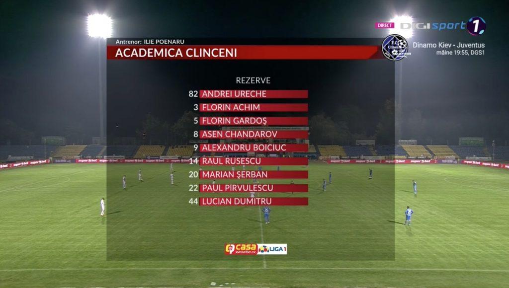 LIVE VIDEO | Academica Clinceni - FCSB. A început partida!