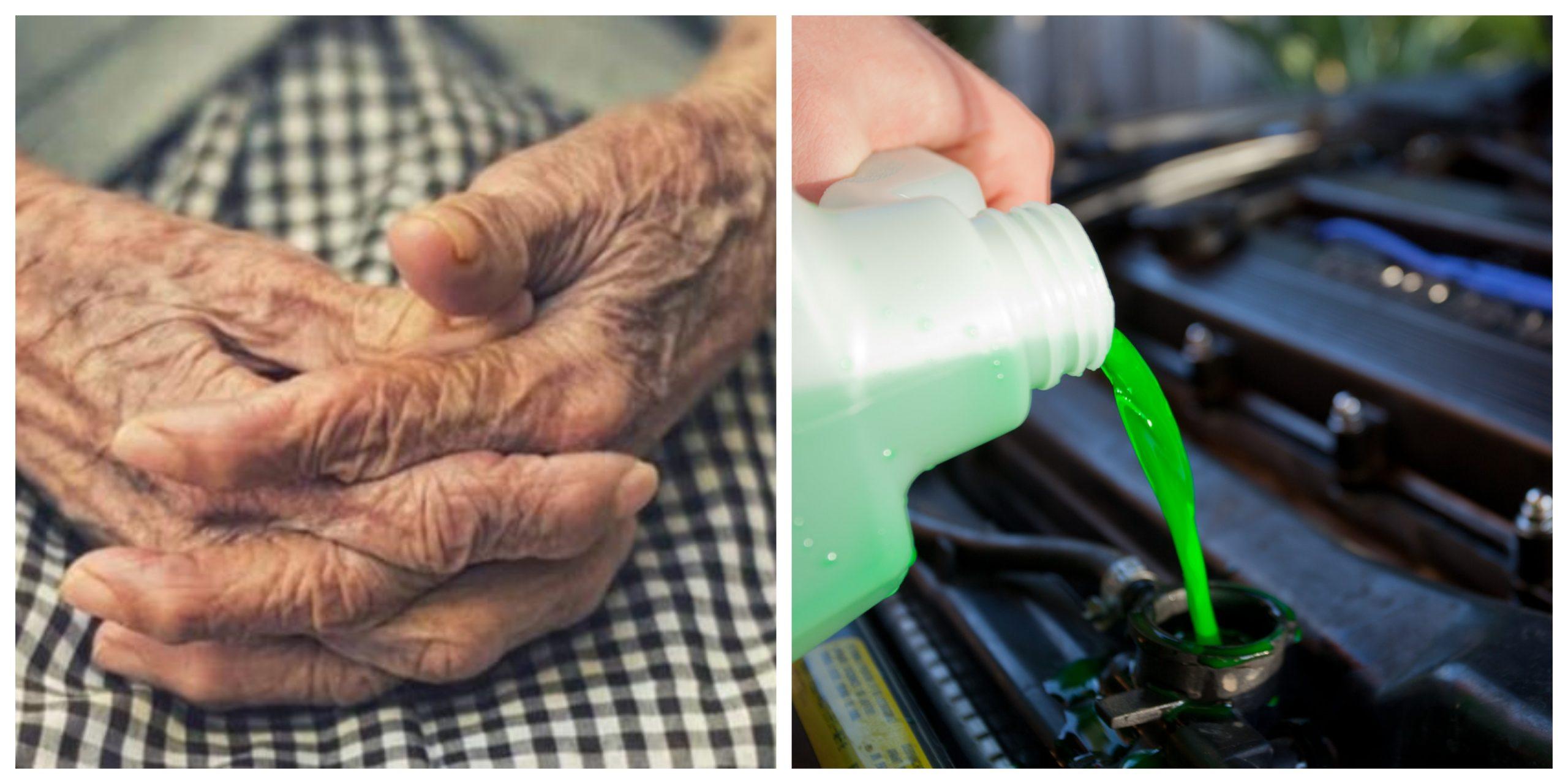 O bătrână de 90 de ani a supraviețuit miraculos, după ce a băut antigel și lichid de parbriz
