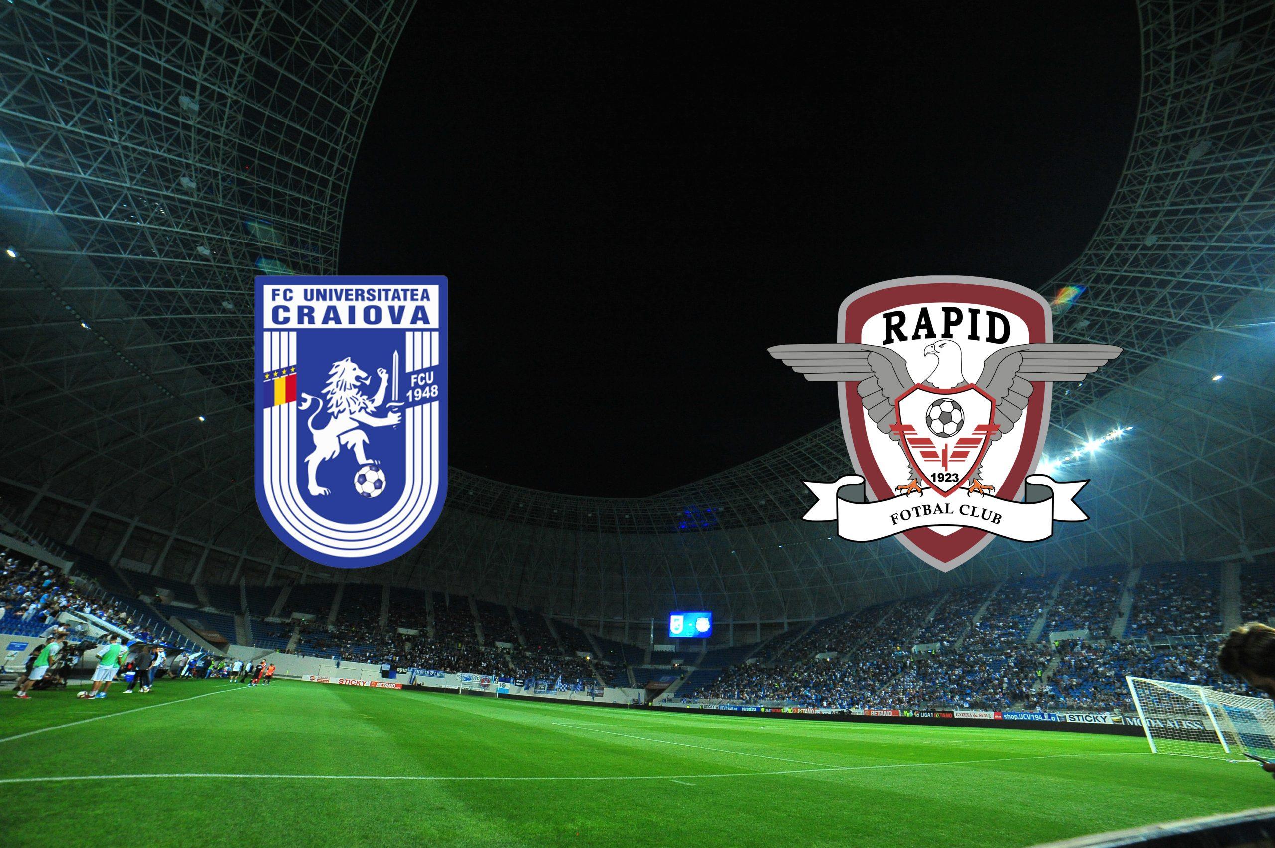 U Craiova - Rapid SCOR live text! Liga 2, lupta pentru locul 1