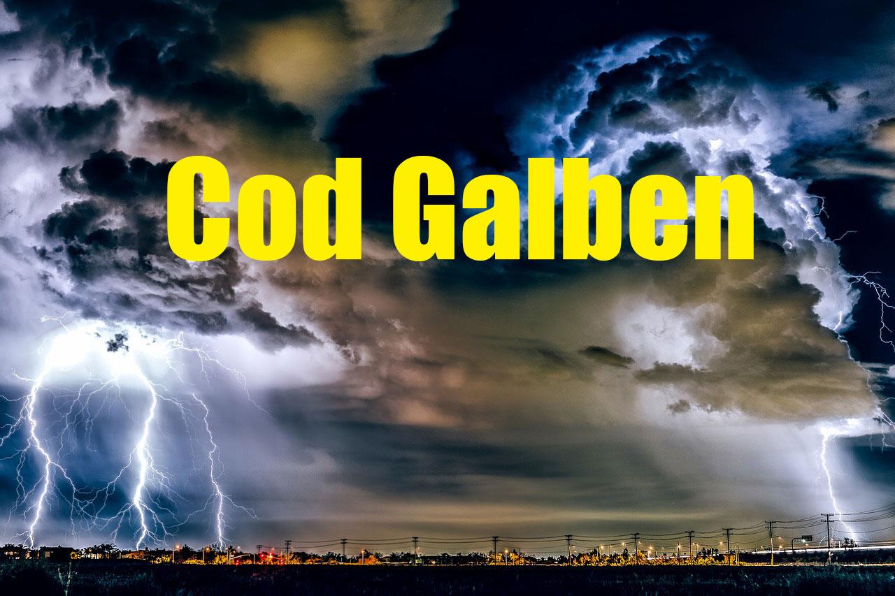 Alertă ANM: cod galben de vânt și ploi. Zonele afectate