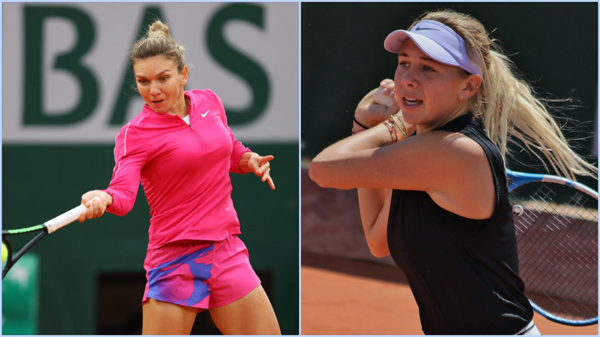 Livetext Simona Halep- Amanda Anisimova în turul 3 la Roland Garros