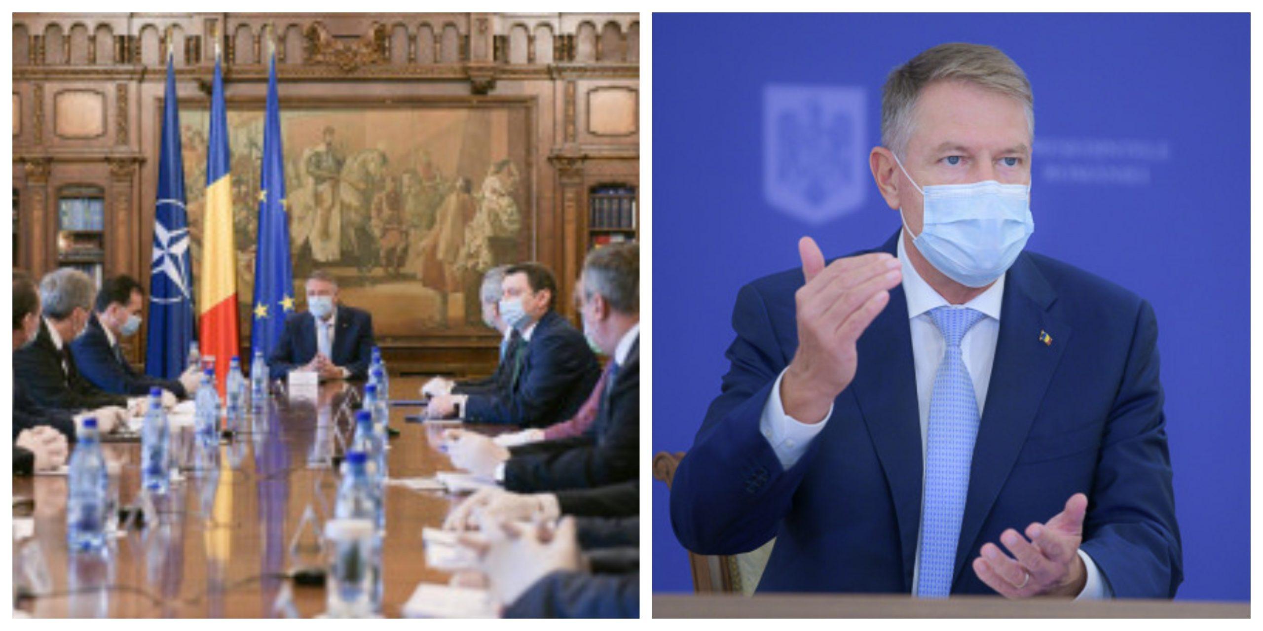 Klaus Iohannis, ședință pe tema pandemiei. Sunt analizate măsurile de prevenire