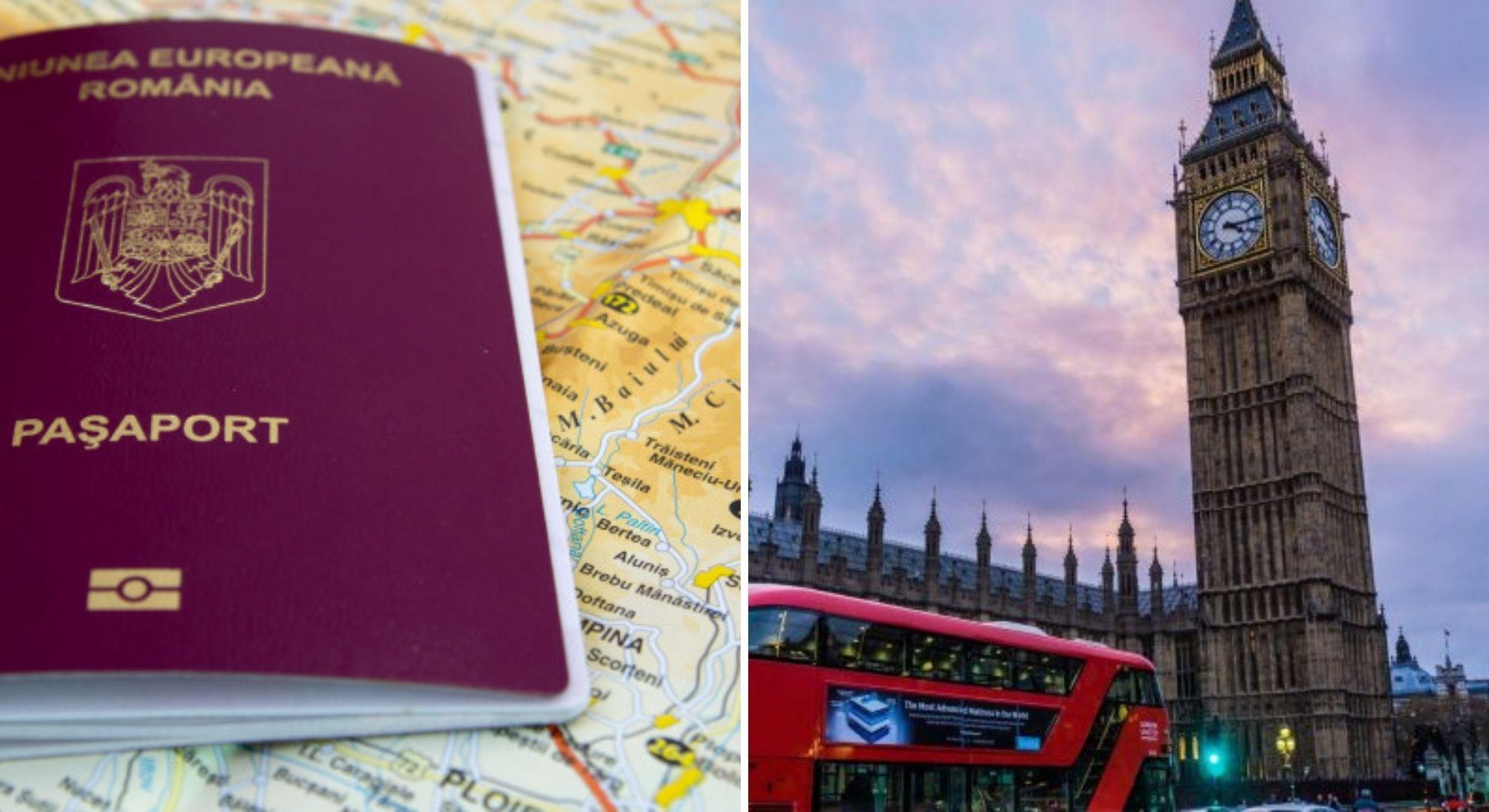 Pașaportul obligatoriu pentru intrarea românilor în Marea Britanie