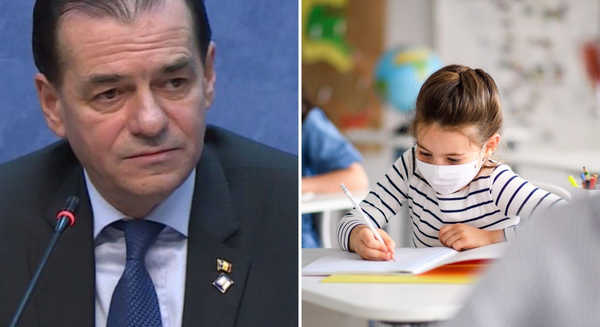 Anul școlar 2020-2021. Câteva sute de școli în scenariul roșu. Ce spune Orban