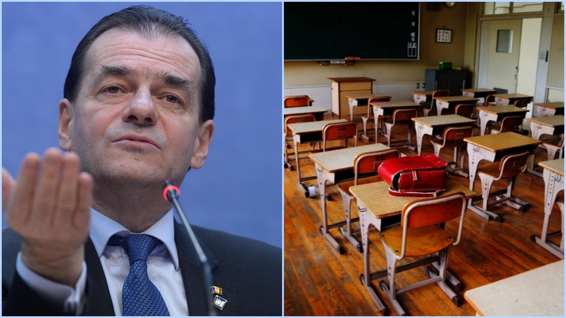 Ludovic Orban confirmă: școala se va face online în București