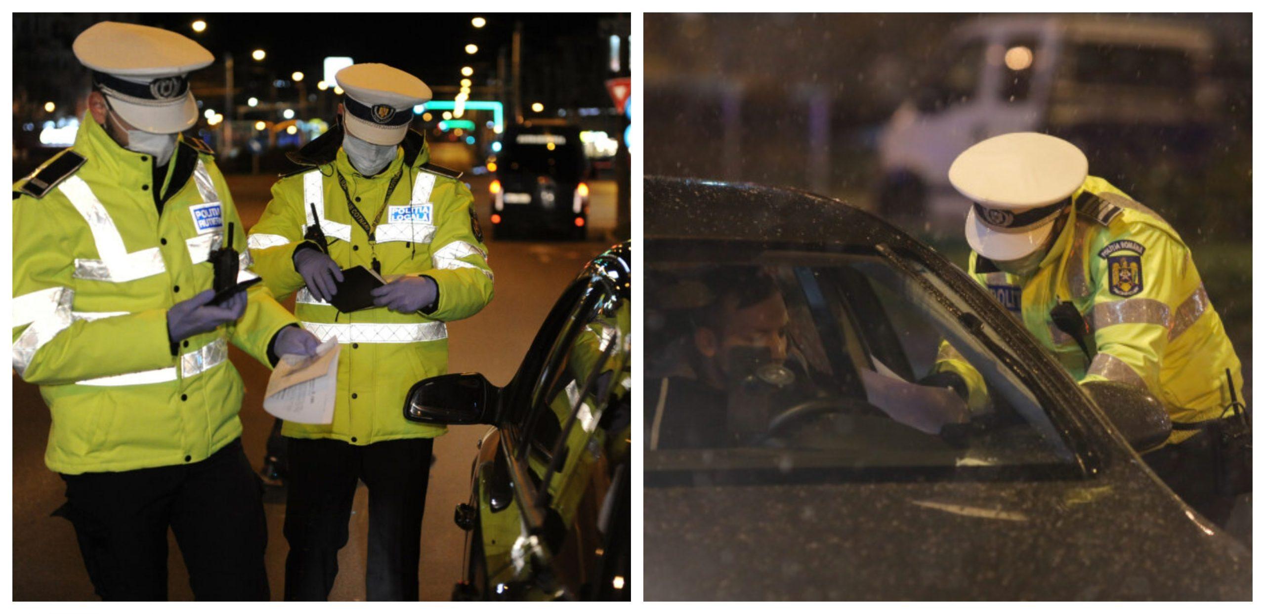 Controale pe străzi- polițiștii se asigură că oamenii respectă carantina parțială. Ce amenzi pot fi aplicate