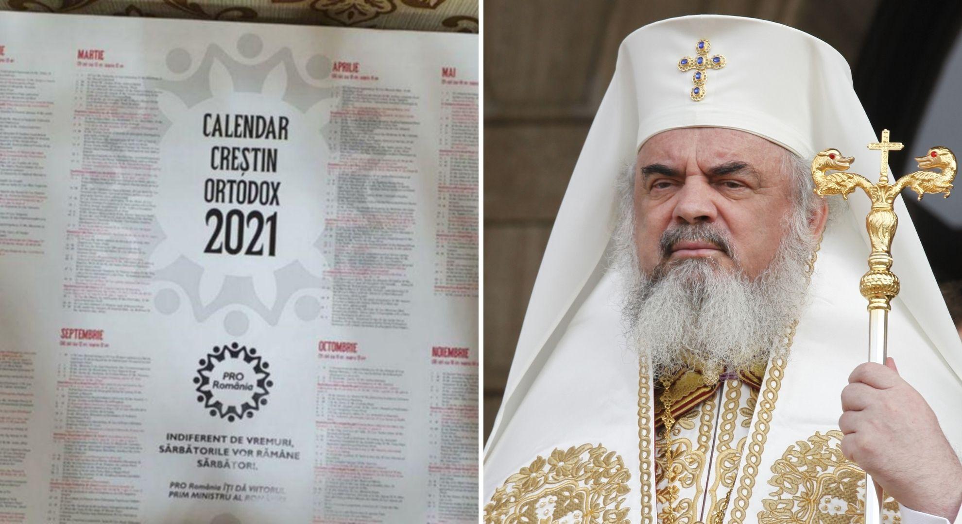Calendare bisericești oferite gratis din partea unui partid politic. Cum a reacționat Patriarhia Română