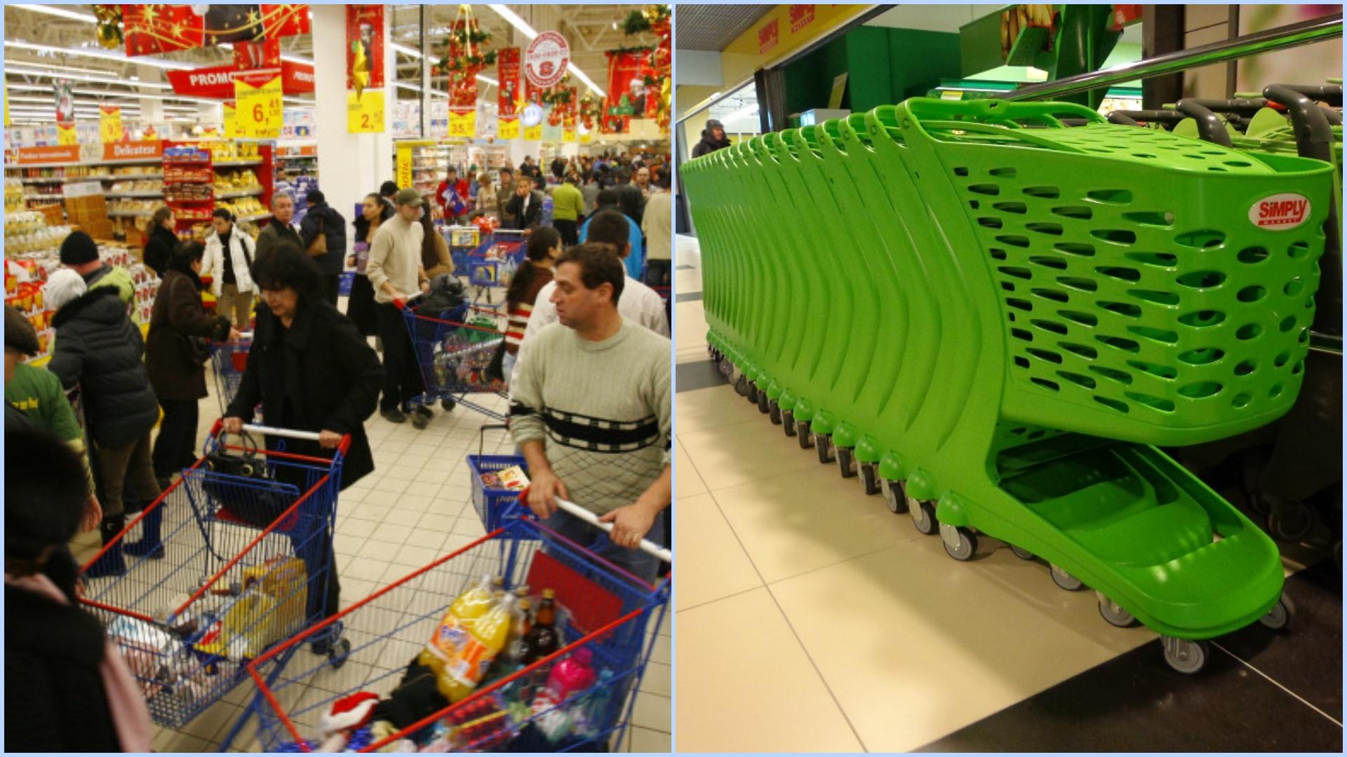 Coșul de cumpărături a fost interzis în Argeș. Este considerat factor de risc