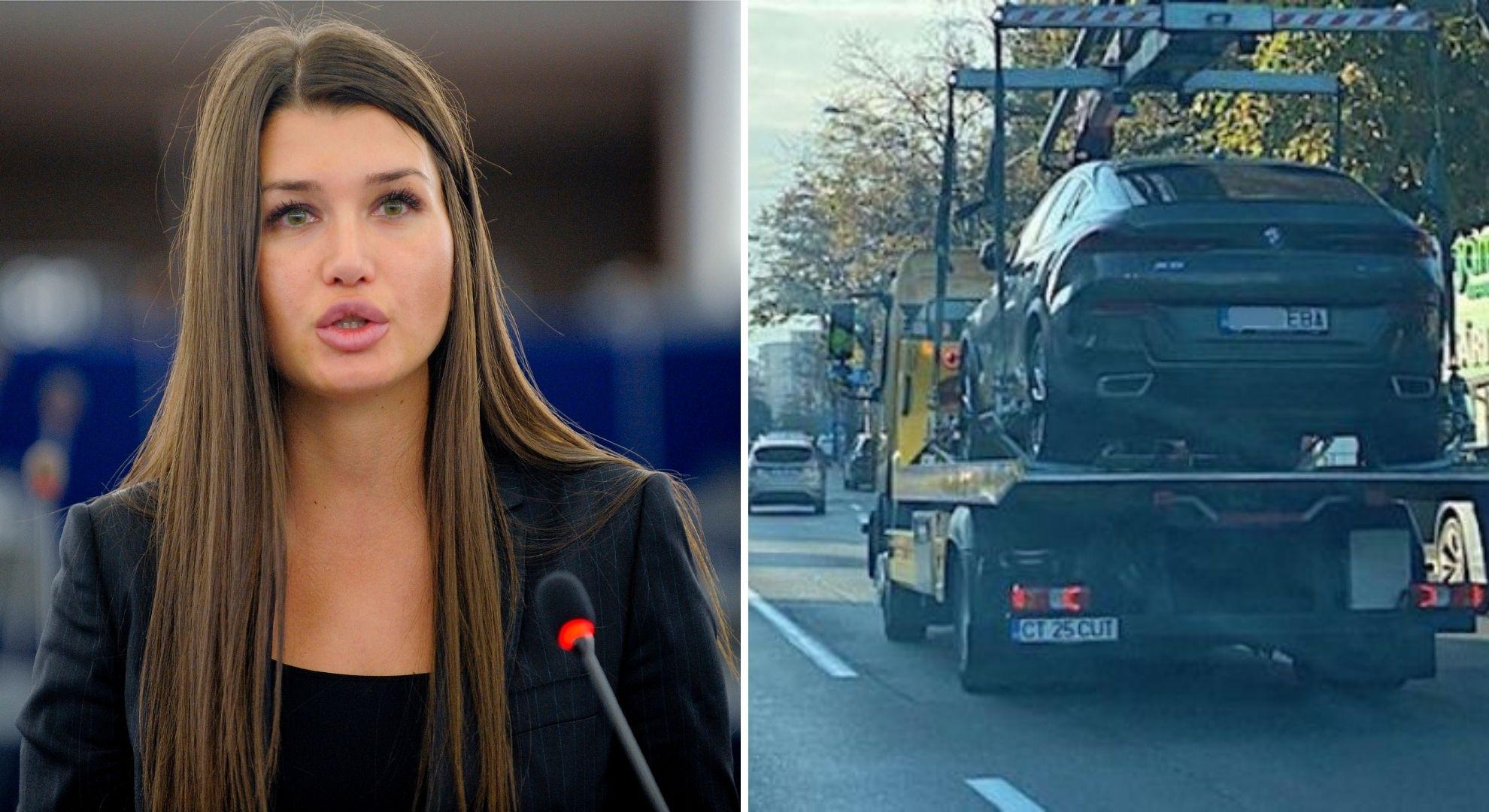 Elena Băsescu lăsată fără bolidul de 90.000 de euro. I-au luat BMW-ul direct din stradă